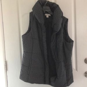 Puffer coat vest nice dark grey